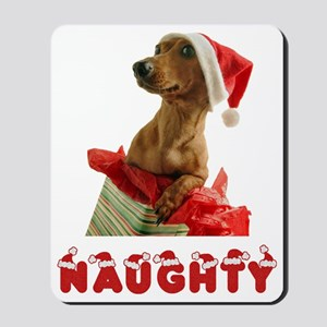 Naughty Dachshund Mousepad