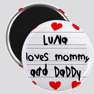 Luna Loves Mommy and Daddy Magnet