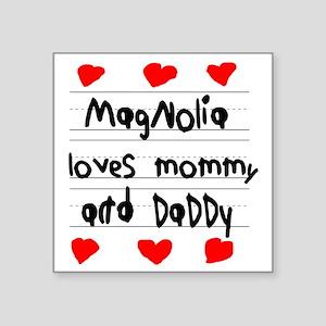 """Magnolia Loves Mommy and Da Square Sticker 3"""" x 3"""""""