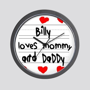 Billy Loves Mommy and Daddy Wall Clock
