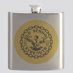 Old School Strength Vintage Flask