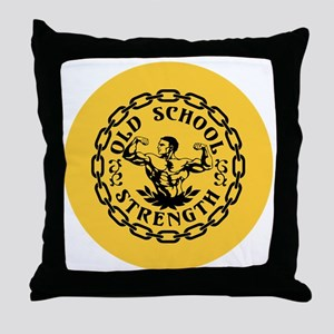 Old School Strength Vintage Throw Pillow