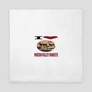 Love Moreno Valley Donkeys Queen Duvet