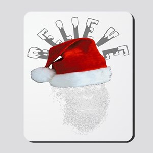Sasquatch/Bigfoot Santa BELIEVE Mousepad