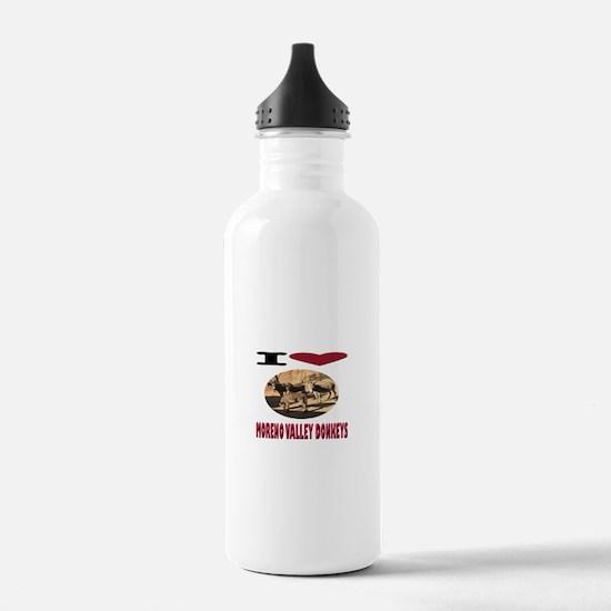 Love Moreno Valley Donkeys Water Bottle
