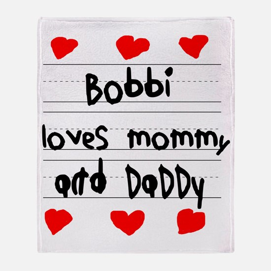 Bobbi Loves Mommy and Daddy Throw Blanket