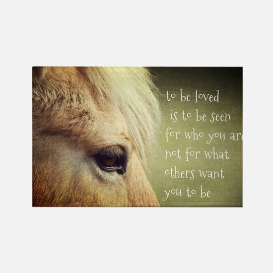 To be loved Fjord eye Rectangle Magnet