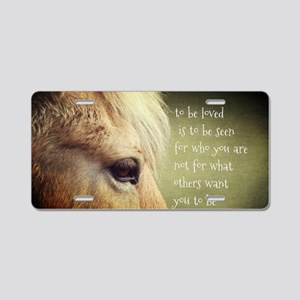 To be loved Fjord eye Aluminum License Plate
