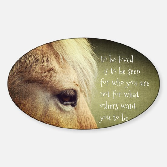 To be loved Fjord eye Sticker (Oval)
