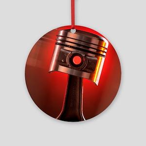 Car engine piston Round Ornament
