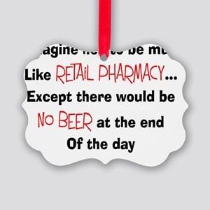 retail pharmacy hell no beer picture ornament - Pharmacy Christmas Ornaments