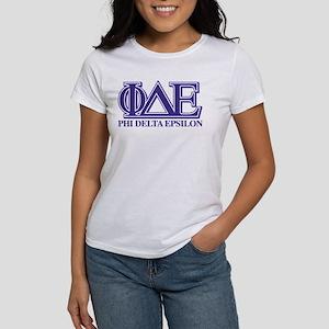 Phi Delta Epsilon Women's Classic White T-Shirt