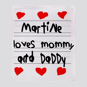 Martine Loves Mommy and Daddy Throw Blanket
