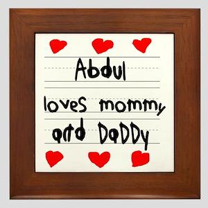 Abdul Loves Mommy and Daddy Framed Tile
