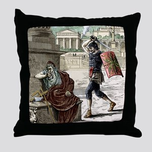 Death of Archimedes in sack of Syracu Throw Pillow
