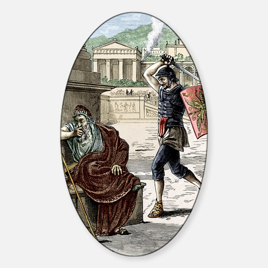 Death of Archimedes in sack of Syra Sticker (Oval)