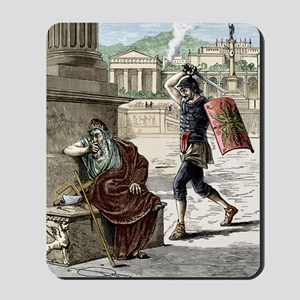 Death of Archimedes in sack of Syracuse Mousepad