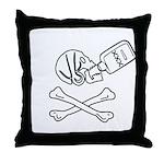 Time Flies, Having Rum Throw Pillow