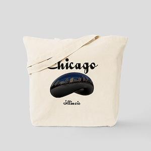 Chicago_12x12_Bean Tote Bag