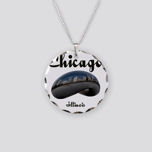 Chicago_12x12_Bean Necklace Circle Charm