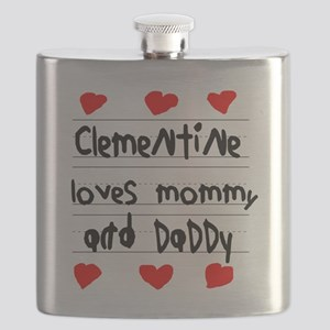 Clementine Loves Mommy and Daddy Flask