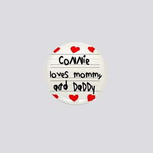 Connie Loves Mommy and Daddy Mini Button