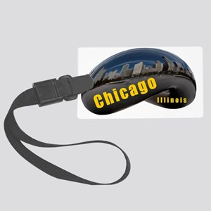 ChicagoBean_Rectangle Large Luggage Tag