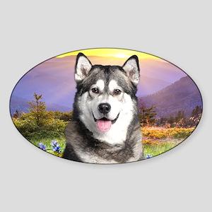 meadow(carmag) Sticker (Oval)