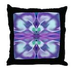 'Virtual Violets' Throw Pillow
