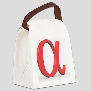 Greek letter Alpha, lower case Canvas Lunch Bag