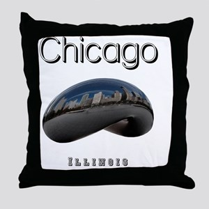 Chicago_10x10_Bean Throw Pillow