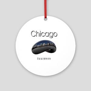 Chicago_10x10_Bean Round Ornament