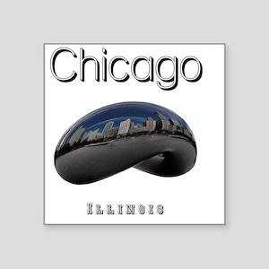 "Chicago_10x10_Bean Square Sticker 3"" x 3"""