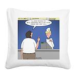 Supersize Me Square Canvas Pillow