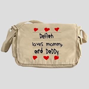 Delilah Loves Mommy and Daddy Messenger Bag