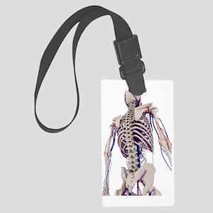Human anatomy, artwork Large Luggage Tag
