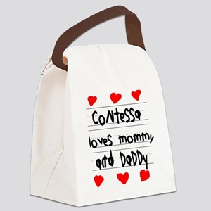 Contessa Loves Mommy and Daddy Canvas Lunch Bag