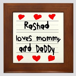 Rashad Loves Mommy and Daddy Framed Tile