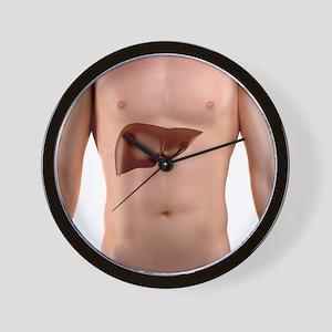 Healthy liver, artwork Wall Clock