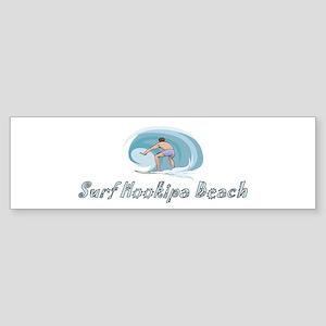 Surf Hookipa Beach, Hawaii Bumper Sticker