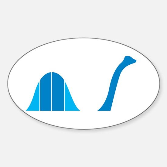 Bell Curve, Science Humor Sticker (Oval)
