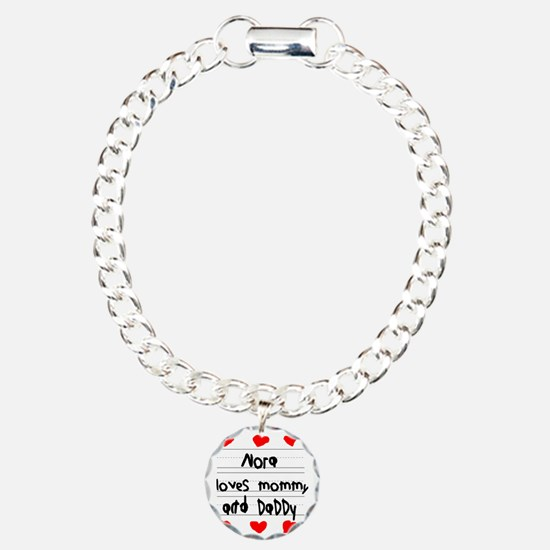Nora Loves Mommy and Dad Bracelet