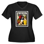 Havana, Cuba Women's Plus Size V-Neck Dark T-Shirt