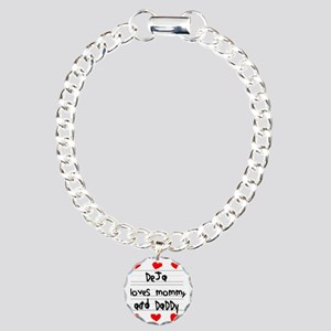 Deja Loves Mommy and Dad Charm Bracelet, One Charm