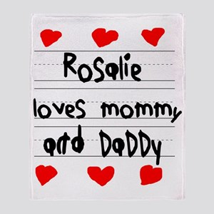 Rosalie Loves Mommy and Daddy Throw Blanket