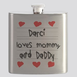 Darci Loves Mommy and Daddy Flask