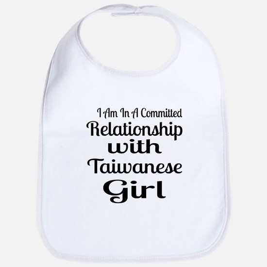 I Am In Relationship With Taiwanes Cotton Baby Bib