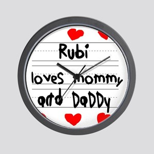 Rubi Loves Mommy and Daddy Wall Clock