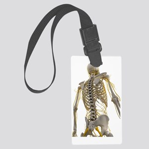 Human nervous system, artwork Large Luggage Tag