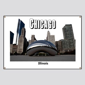 Chicago_13x13_ChicagoBeanSkyline_Black Banner